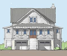 Coastal Home Plans - Rockville Cottage