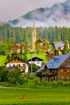 Mountain Village, Gosau, Gmunden, Austria....photo via djfierra