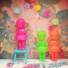 contemporary bright and bubbly kitsch photo art for jellybabies