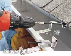 Installation of gutters The Family Handyman, . - Installation of gutters The Family Handyman, # gutter - House Gutters, Diy Gutters, Rain Gutter Installation, The Family Handyman, Gutter Drainage, Yard Drainage, How To Install Gutters, Home Fix, Diy Home Repair