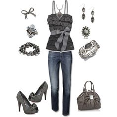 """grey"" by wendyfer on Polyvore"