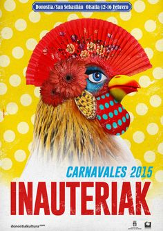 Get ready for Carnaval 2015 February Bilbao, Cover Art, Illustration, Poster Ideas, Mockup, Layouts, Collage, Ads, Wall Art