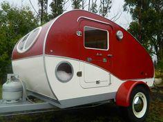 New vintage style Karavana teardrop camper/trailer, small caravan
