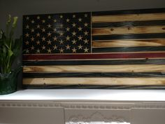 Fire fighter American flag by Southern Addiction Decor