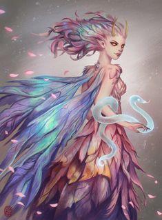 Sierisa by vesssel on DeviantArt Dark Fantasy Art, Fantasy World, Fantasy Artwork, Dnd Characters, Fantasy Characters, Magical Creatures, Fantasy Creatures, Character Concept, Character Art