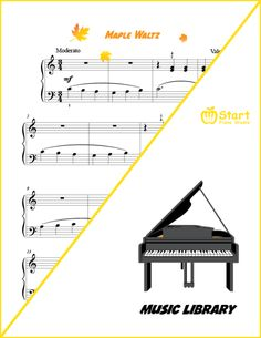 Maple Waltz is an early elementary piece with an objective of learning left-hand melody, harmonic thirds in the right hand and waltzing Piano Music, Sheet Music, Heroes Book, Learning Objectives, Music Library, Music Education, Super Powers, Preschool, Books