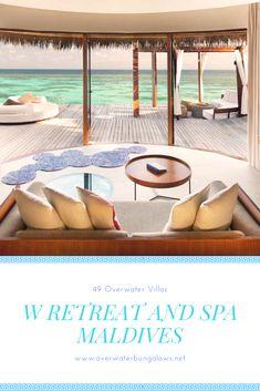 Maldives Water Villa, Overwater Bungalows, Resort Villa, Island Nations, Resorts, Spa, Vacation, Vacations, Vacation Resorts