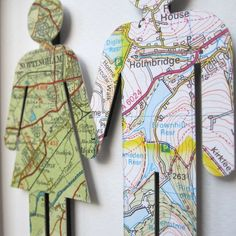 Where we're from - love vintage map figures, from etsy seller TerrorDome.