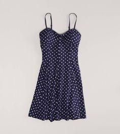 AE Polka Dot Skater Corset Dress