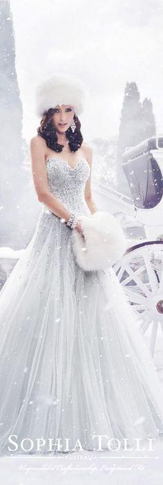 The Sophia Tolli Fall 2015 Wedding Dress Collection - Style No. Y21521 www.sophiatolli.com #weddingdresses #weddinggowns @moncheribridals