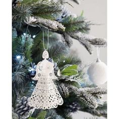 White Paper Angel Christmas Tree Decoration - Everyone needs an angel on their tree, this delicate white paper angel adds the perfect pretty touch to your Christmas tree