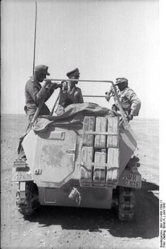 Erwin Rommel and Fritz Bayerlein in the SdKfz. command vehicle Greif near Tobruk, Libya, Jun photo 4 of 4 Photographer : Ernst A. Zwilling German Federal Archive, pin by Paolo Marzioli Mg 34, Army Vehicles, Armored Vehicles, Luftwaffe, Afrika Corps, North African Campaign, Erwin Rommel, Italian Army, Man Of War