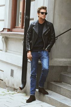 The Best Street Style Inspiration   More Details That Make the Difference  Black Leather Biker Jacket 1fbc39ffd