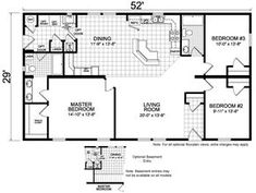 house plan 1500 c the james c attractive one story ranch. Black Bedroom Furniture Sets. Home Design Ideas