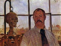 Autorretrato con esqueleto,  1896 -  Lovis Corinth