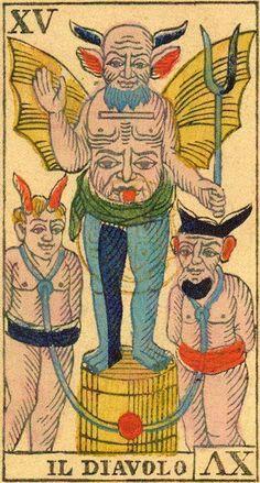 The Devil - Ancient Tarot of Liguria-Piedmont