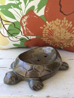 Items similar to Turtle Soap Dish on Etsy , Clay Turtle, Ceramic Turtle, Mini Turtles, Small Turtles, Pink Coffee Cups, Turtle Homes, Happy Turtle, Turtle Figurines, Turtle Gifts