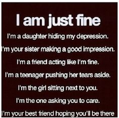 i'm just fine...But I get hate on facebook and other sites.I am getting tired of it all.I am tired of trying to fit in and just be normal but no one even cares.I am just tired of trying.~~~P.J.