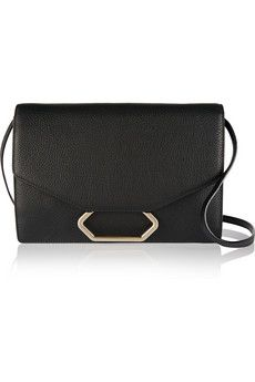 Victoria Beckham Money Clutch textured-leather shoulder bag | NET-A-PORTER