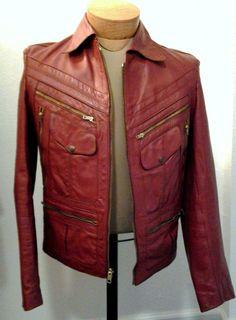 LOVE! Vintage Leather Jacket  Red/Brown/Burgundy #vintage #leatherjacket @Thrifty Trendz