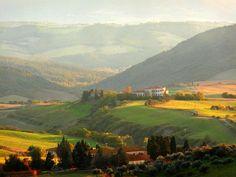 volterra italy | Volterra Italy - trees, italy, field, mountains