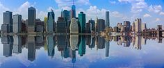 New York City Downtown Reflections by Matze B