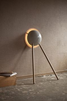 Unbalanced unless it's propped up against a vertical plane, the Cirkel is a modern hybrid of floor and wall lamps.