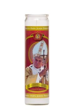 Star Pope John Paul II Candle