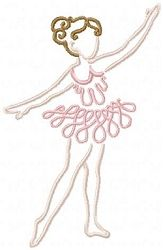 Colorline Ballerina Set, 12 Designs - 5x7 | Ballet-Dance | Machine Embroidery Designs | SWAKembroidery.com Oma's Place