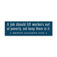 Bernie Sanders poverty & jobs Car Magnet 10 x 3 for