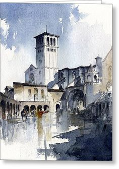 Assisi Greeting Card by Tony Belobrajdic