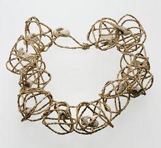 Necklace by Kay Sekimachi.