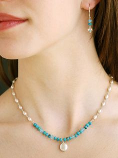 "#harmonywishlist...Harmony Scott Jewelry Design - Turquoise & Pearl ""Protection"" Jewelry 