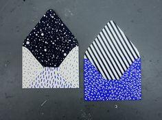 Screenprinted Envelopes by KarolinSchnoor on Etsy