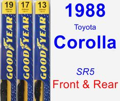 Front & Rear Wiper Blade Pack for 1988 Toyota Corolla - Premium