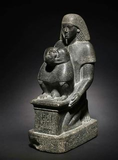 Statue of Minemheb Granodiorite, Overall: 45 x 16.6 x 28.3 cm (17 11/16 x 6 1/2 x 11 1/8 in.). Reign of Amenhotep III. New Kingdom, 18th Dynasty, ca. 1391-1353 BC. From the Cleveland Museum of Art Minemheb was one of the many court officials who helped prepare for Amenhotep III's 30-year jubilee festival. Clearly, Minemheb regarded this as the high point of his career, since his title as chief of construction for the jubilee temple is the primary one provided on this statue. It is actually