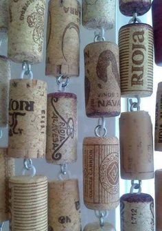 Cork curtain..good idea for windchimes
