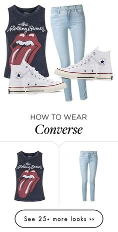 """Untitled #125"" by audribae on Polyvore featuring Topshop, Frame Denim and Converse:"