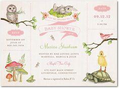 Baby Shower Invitations Wonderful Woodland - Front : Watermelon