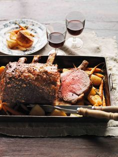 Roast beef with Yorkshire pudding. Pair with an Australian Claret.
