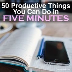 Productive Things to Do in Five Minutes   The Order Expert