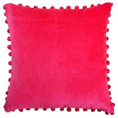 Ragged Rose has a full range of luxury velvet cushions including the Arabella Pink Velvet Pom Pom Cushion which has a matching throw