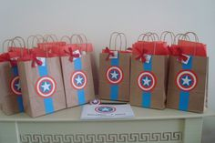 Captain America Kids Party Favor