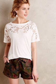 Blossomed Lace Tee - anthropologie.com