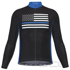 Men's Blue American Flag Long Sleeve Cycling Jersey – Online Cycling Gear – Huge Selection – Low Prices! Cycling Gear, Cycling Outfit, Cycling Jerseys, Thin Blue Lines, Winter Cycling, Suits You, Short Sleeves, Long Sleeve, American Flag
