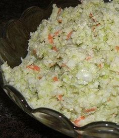 Recipe for KFC Coleslaw Copy Cat - Whether you're a fan of Colonel Sander's Kentucky Fried Chicken or not, you have to admit his secret coleslaw recipe is one of the best out there. It has a crisp crunchy texture that is most refreshing in its taste.