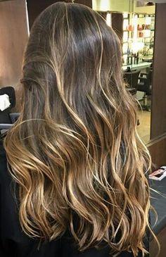 Projeto Along Hair Brown Hair Balayage, Brown Blonde Hair, Brunette Hair, Hair Highlights, Ombre Hair, Gorgeous Hair, Hair Looks, Dyed Hair, Hair Inspiration
