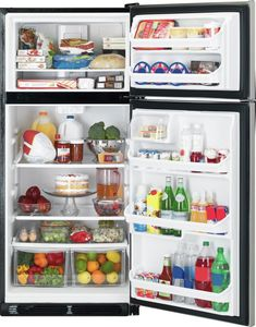 Top Freezer Refrigerator with Glass Shelves, includes delivery and hookup (Available in select cities) Apartment Size Refrigerator, Kenmore Refrigerator, Stainless Steel Refrigerator, Top Freezer Refrigerator, Kitchen Pantry Design, Kitchen Organization, Kitchen Ideas, Fridge Decor