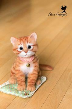 Katze filzen