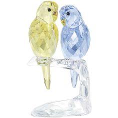Swarovski Budgies Figurine - Precious Accents